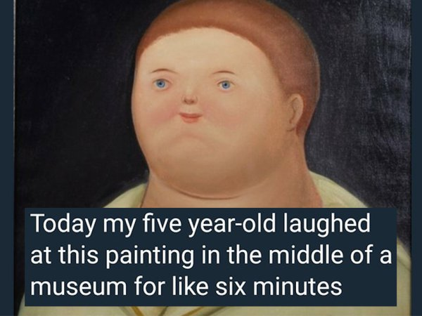 Painting in the middle of a museum